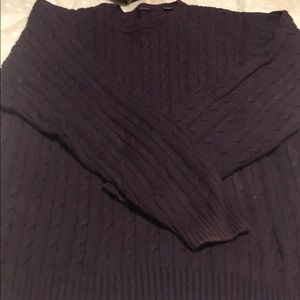 Izod Eggplant cable knit sweater